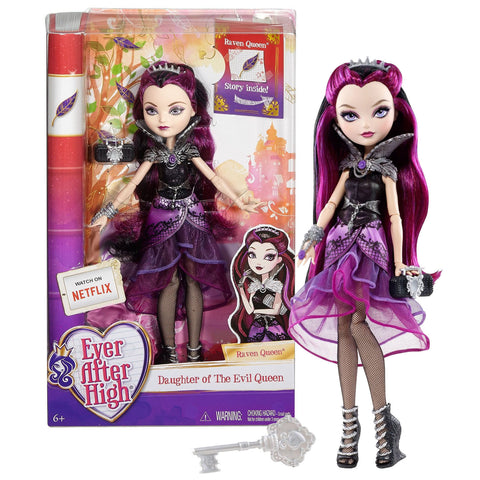 Mattel Year 2015 Ever After High Rebel Series 11 Inch Doll Set - Daughter of the Evil Queen RAVEN QUEEN (BBD42) with Purse, Hairbrush and Doll Stand