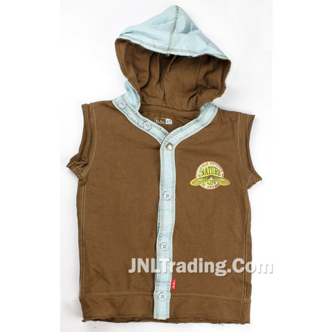 Shilav Sleeveless Hoodie Vest Shirt 100% Cotton Nature Life