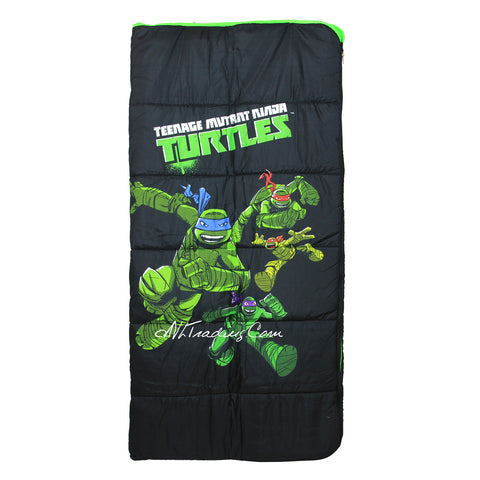 Teenage Mutant Ninja Turtle TMNT Youth Sleeping Bag Full Length Self Repairing Zipper