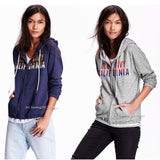 Old Navy Women's Logo French Terry Zip Hoodie Lightweight Jacket sweatshirt