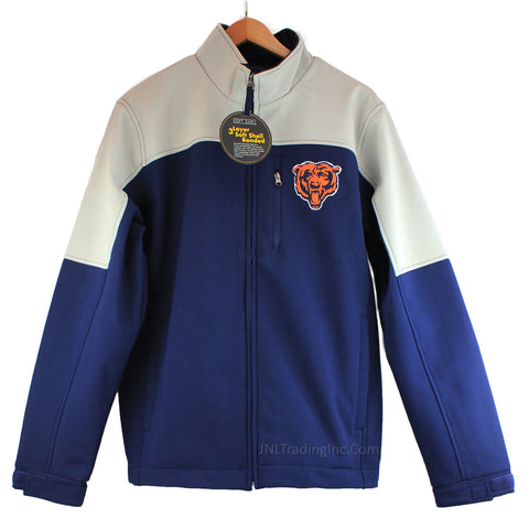 Chicago BEARS NFL Team Apparel 3 Layer Soft Shell Bonded Men Jacket Rain/Wind