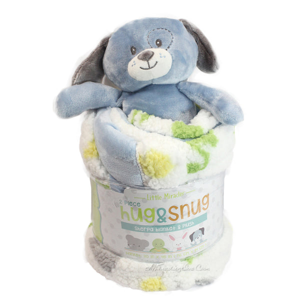 Little Miracles 2 Piece Hug N Snug Sherpa Blanket Amp Plush