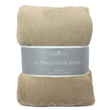 Berkshire Life Ultralush Velvety Soft Plush Warmest Blanket Queen (Tan)