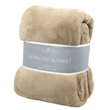 Berkshire Life Ultralush Velvety Soft Plush Warmest Blanket Tan (Queen/King)