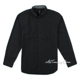 Calvin Klein Men Classic Button-Down Long Sleeve 100% Cotton Woven Shirt