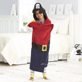 "Pirate Hooded Microplush Throw Warm Cozy Supersoft 50""x32"" Kids Blanket"