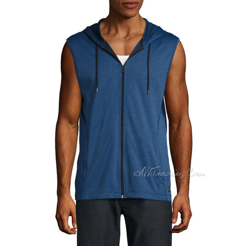 Bonded Mesh Jersey MSX Michael Strahan Active Lightweight Sleeveless Hoodie