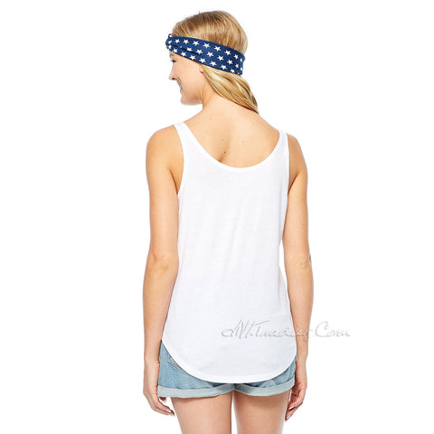 c5b2074be4c9 ... Women s Cute USA Flag COKE Loose Tank Top With Bandana Headband Junior  White ...