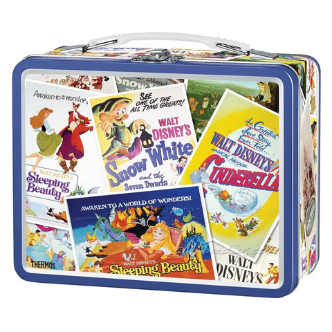 Thermos Metal Classic Disney Princess Series TIN Lunch BOX Collector Collection