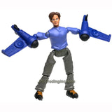 "Lego Year 2002 Galidor ""Defenders of the Outer Dimension"" Deluxe Series 9 Inch Tall Figure Set # 8313 - NICK with Power Wings Equipped with 2 Missiles (Total Pieces: 15)"
