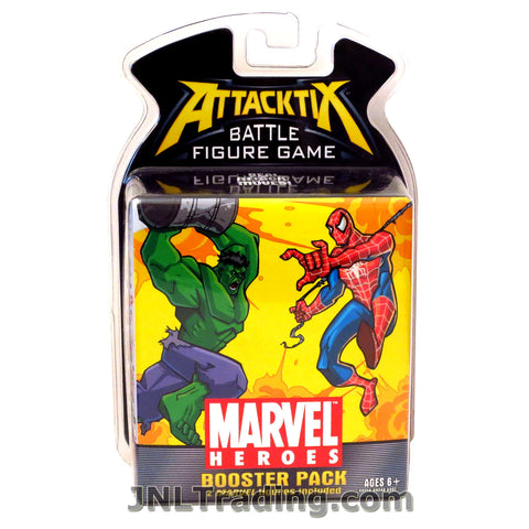 Attacktix Year 2006 Marvel Heroes Series Battle Figure Game Booster Pack with 2 Random Marvel Figures