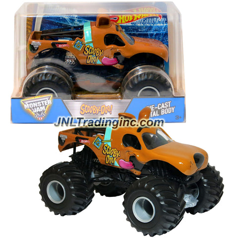 "Hot Wheels Year 2016 Monster Jam 1:24 Scale Die Cast Official Monster Truck Series #BGH23 : SCOOBY-DOO! with Monster Tires, Working Suspension and 4 Wheel Steering (Dimension - 7"" L x 5-1/2"" W x 4-1/2"" H)"