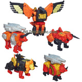 "Year 2013 Hasbro Transformers Generations Thrilling 30 Series Platinum Edition 11"" Tall Figure - PREDAKING (Divebomb, Razorclaw, Rampage, Torox & Headstrong)"
