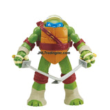 Playmates Year 2014 Teenage Mutant Ninja Turtles TMNT Head Droppin' Series 11 Inch Tall Action Figure - LEONARDO with Head Dropping Feature Plus 2 Katana Swords