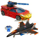 Hasbro Year 2007 Transformers Universe Series 2 Pack Deluxe Class 6 Inch Tall Robot Action Figure Set - OPPOSITE ATTACK - Autobot EXCELLION with Dragster Wing and Grenade Rifle (Vehicle Mode: Race Car) and Decepticon THUNDERCRACKER with Firing Drone Rocket Launcher (Vehicle Mode: Fighter Jet)