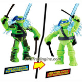"Playmates Nickelodeon Teenage Mutant Ninja Turtles 5"" Tall Action Figure - SHADOW NINJA COLOR CHANGE LEO with Twin Katana Swords"