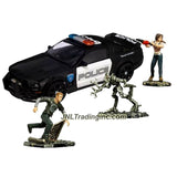 "Hasbro Year 2007 Transformers Movie Screen Battles Series Robot Action Figure Scene Set - FIRST ENCOUNTER with Deluxe Class 6"" Tall BARRICADE (Vehicle Mode: Saleen S281 Police Car) Plus Decepticon Frenzy, Mikaela Banes and Sam Witwicky Mini Figures"