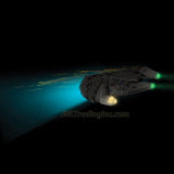 3DLightFX Star Wars Series Battery Operated 3D Deco Night Light : MILLENNIUM FALCON with Light Up LED Bulbs