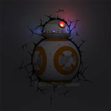 3DLightFX Star Wars Series Battery Operated 3D Deco Night Light : BB-8 Droid with Lights Up LED Bulbs