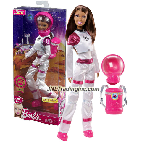 Mattel Year 2013 Barbie I Can Be Series 12 Inch Doll Set - Nikki as MARS EXPLORER (X9074) with Outer Space Suit, Removable Helmet and Backpack