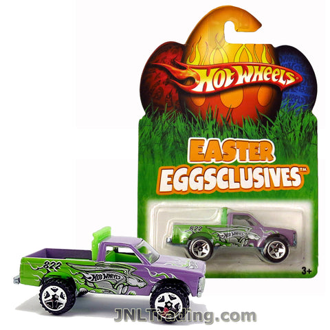 Hot Wheels Year 2007 Easter Eggsclusives Series 1:64 Scale Die Cast Car Set - Purple Green Pick-Up Truck PATH BEATER N1142