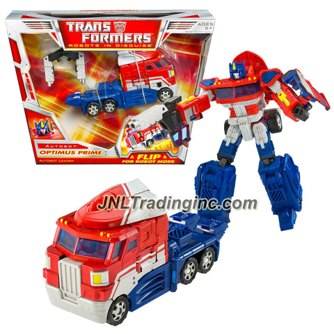 Hasbro Year 2006 Transformers Classic Series Voyager Class 7 Inch Tall Robot Action Figure - Autobot Leader OPTIMUS PRIME with Smokestacks that Change to Laser Cannon and Wind Vane that Change to Ion Blaster (Vehicle Mode: Rig Truck)