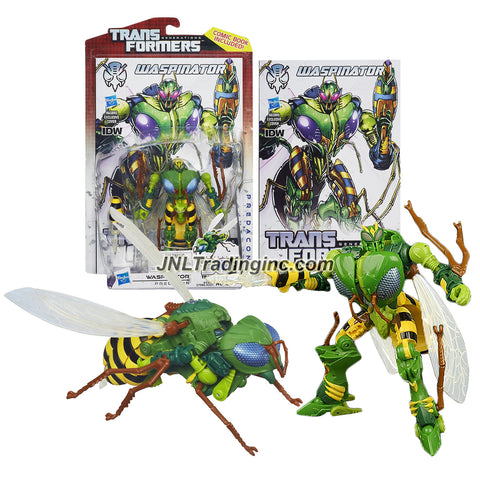 Transformer Year 2013 Generations Thrilling 30 Series Deluxe Class 5-1/2 Inch Tall Figure - Predacon WASPINATOR (Beast Mode: Wasp) with Flapping Wings and Stinger Plus Comic Book