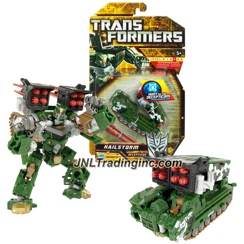 "Hasbro Year 2010 Transformers ""Hunts for the Decepticons"" Series 6 Inch Tall Deluxe Class Robot Action Figure - Decepticon HAILSTORM with Missile Launcher and 8 Firing Missiles (Vehicle Mode: MLRS Tank)"
