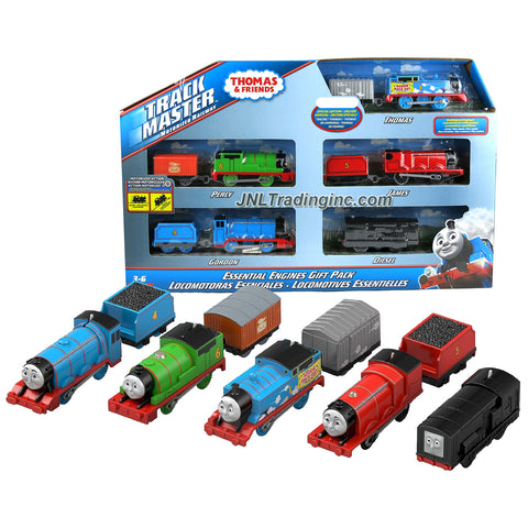 Fisher Price Year 2014 Thomas and Friends Trackmaster Motorized Railway Exclusive Essential Engines Gift Pack Train Set (CHG11) with Thomas, Percy, James, Gordon and Diesel