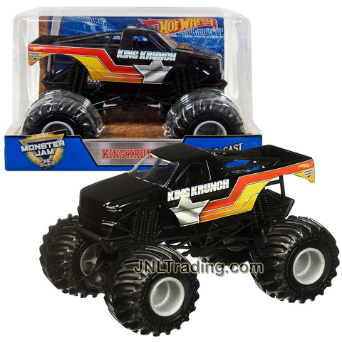 Hot Wheels Year 2016 Monster Jam 1:24 Scale Die Cast Metal Body Official Truck - KING KRUNCH DWP17 with Monster Tires, Working Suspension and 4 Wheel Steering