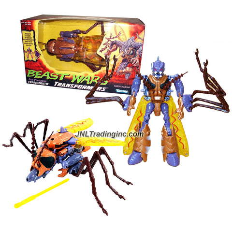 Kenner Year 1997 Transformers Beast Wars Series Intermediate Level 6 Inch Tall Action Figure - Evil Predacon Air Assault and Reconnaissance TRANSQUITO with Hidden Battle Pincers (Beast Mode: Mosquito)