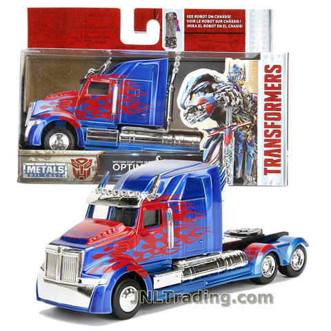 Jada Year 2017 Transformers The Last Knight Series 1:32 Scale Die Cast Metal Cars - OPTIMUS PRIME (Western Star 5700 XE Phantom)