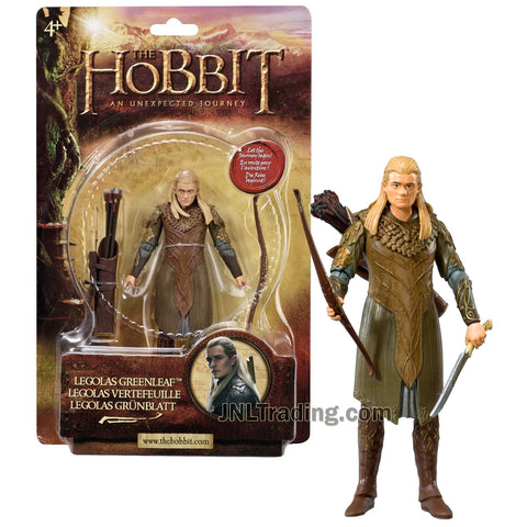Year 2012 The Hobbit Movie An Unexpected Journey Series 6 Inch Tall Action Figure - LEGOLAS GREENLEAF with Swords, Quiver, Arrows and Longbow