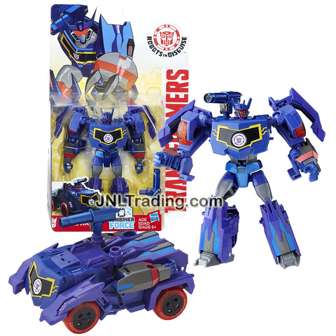 Transformer Year 2016 Robots In Disguise Combiner Force Series  Warriors Class 5-1/2 Inch Tall Figure - SOUNDWAVE with Blaster (Vehicle: Armored Car)