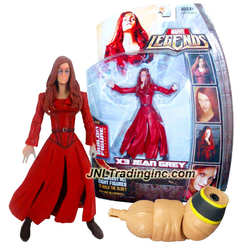 Hasbro Year 2006 Marvel Legends Blob Series 6 Inch Tall Action Figure - Variant Possessed X3 JEAN GREY with Blob's Right Arm