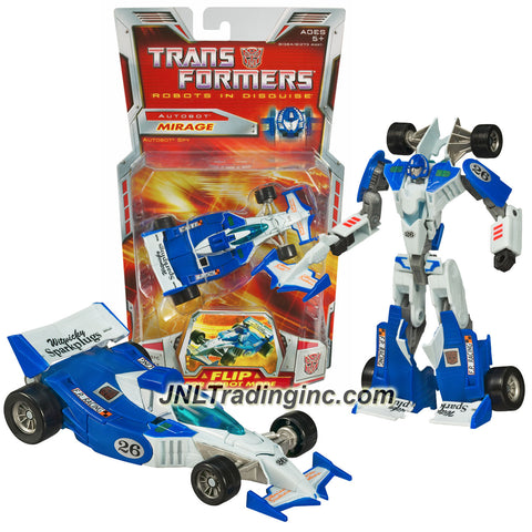 Hasbro Year 2006 Transformers Classic Series Deluxe Class 6 Inch Tall Robot Action Figure - Autobot Spy MIRAGE with Electro Disruptor (Vehicle Mode: Race Car)
