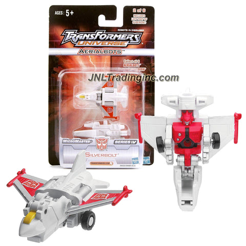 Hasbro Year 2005 Transformers UNIVERSE MicroMaster Series IV 2-1/2 Inch Tall Robot Action Figure - Aerialbots #2 of 6 Autobot SILVERBOLT with Superion's Left Foot (Vehicle Mode: Fighter Jet)