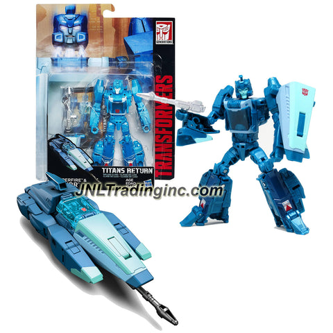 Hasbro Year 2015 Transformers Titans Return Series 5-1/2 Inch Tall Robot Figure - HYPERFIRE BLURR with Shield & Blaster (Vehicle Mode: Hovercar)
