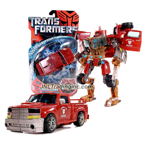 Hasbro Year 2007 Transformers Movie All Spark Power Series Deluxe Class 6 Inch Tall Robot Action Figure - Autobot SALVAGE with Crusher Claw (Vehicle Mode: Pick-Up Truck)