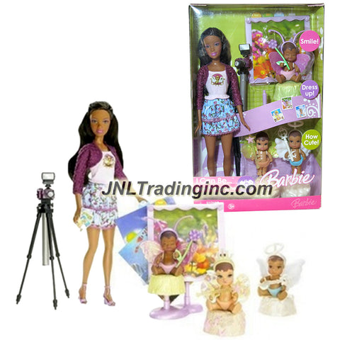 Mattel Year 2006 Barbie I Can Be Series 12 Inch Doll - NIKKI as BABY PHOTOGRAPHER (K8579) with 3 Babies in Fairy Costume, Camera with Stand and Picture Frame