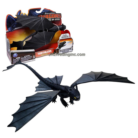 "Spin Master Year 2013 Dreamworks Movie Series ""DRAGONS - Defenders of Berk"" 10 Inch Long Dragon Figure - Night Fury TOOTHLESS with Dive Bomb Wing Attack and Missile Fire Attack"