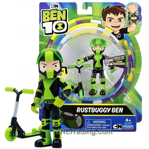 Year 2018 Cartoon Network Ben Tennyson 10 Series 4 Inch Tall Figure - Rustbuggy Ben with Racing Scooter