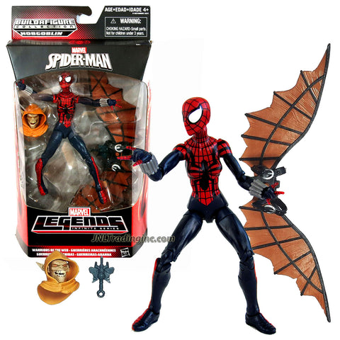 "Hasbro Year 2015 Marvel Legends Infinite Hobgoblin Series 6"" Tall Action Figure - Warriors of the Web SPIDER-GIRL with Hobgoblin's Head and Wingpack"