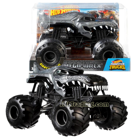 Hot Wheels Year 2018 Monster Jam 1:24 Scale Die Cast Metal Body Truck - MEGA WREX FYJ88 with Monster Tires, Working Suspension and 4 Wheel Steering