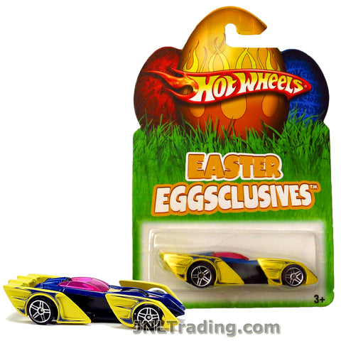 Hot Wheels Year 2007 Easter Eggsclusives Series 1:64 Scale Die Cast Car Set - Yellow Race Car SHREDSTER N1139