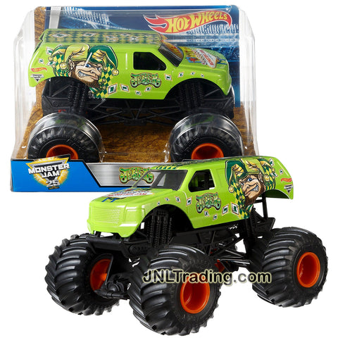Hot Wheels Year 2016 Monster Jam 1:24 Scale Die Cast Metal Body Official Truck - JESTER DWP16 with Monster Tires, Working Suspension and 4 Wheel Steering