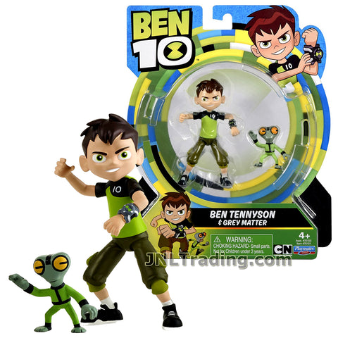 Cartoon Network Year 2017 Ben 10 Series 4 Inch Tall Figure - BEN TENNYSON with GREY MATTER