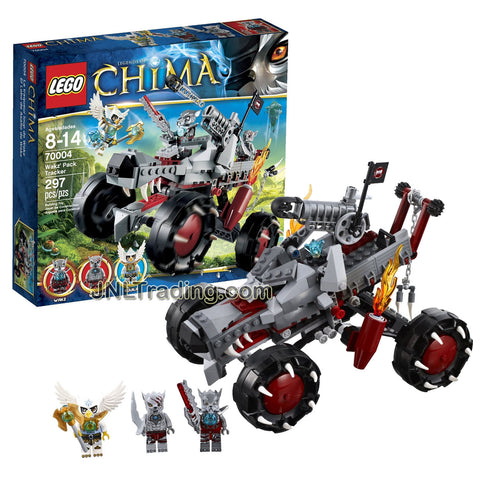 Year 2013 Lego Legends of Chima Series 7 Inch Tall Vehicle Set #70004 - WAKZ' PACK TRACKER with Wakz, Winzar and Equila Minifigures (Total Pieces: 297)
