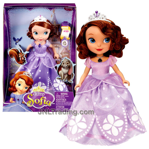 Year 2012 Animated DVD Series Sofia the First 11 Inch Doll Set - SOFIA with Tiara and Necklace