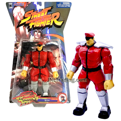 Year 2005 Capcom Street Fighter Series 7 Inch Tall Figure - BISON (Player 1) in Red Outfit